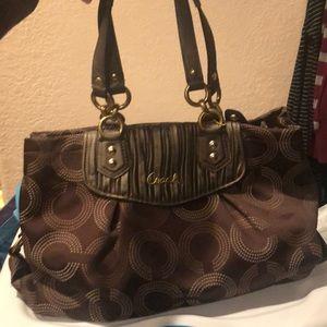 Coach purse brown